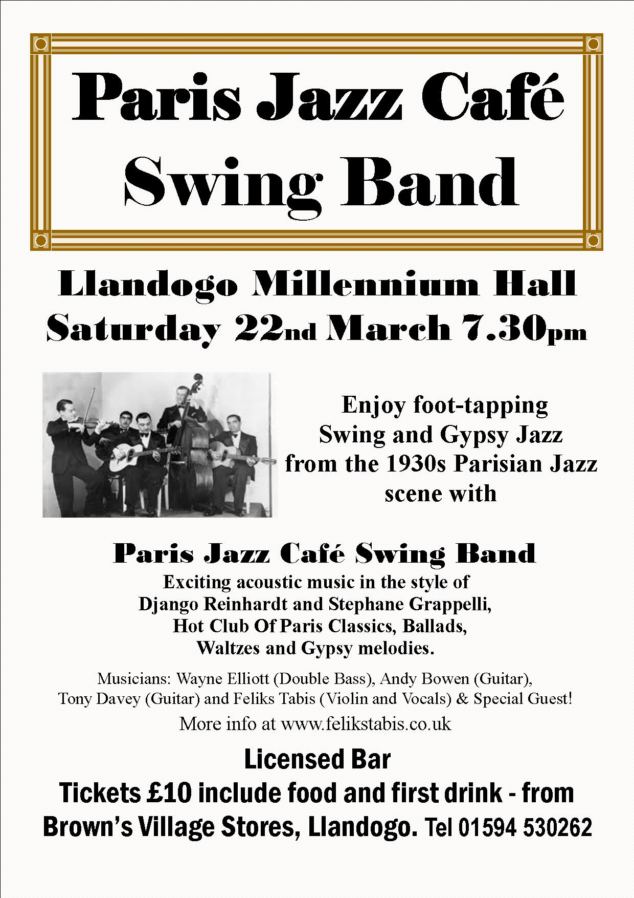 Paris Jazz Cafe Swing Band